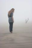 Walking in fog Royalty Free Stock Photo
