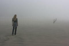 Walking in fog Royalty Free Stock Image