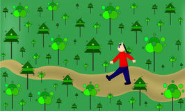 Walking in the forest Royalty Free Stock Image