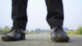 Walking forward and backward feet stock video