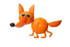 Walking fox made of orange Stock Photos