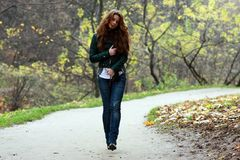 Walking girl Stock Photo