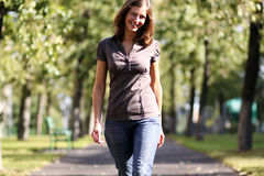 Walking girl Stock Photography