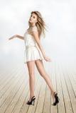 Walking girl stock photography