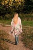 Walking girl Royalty Free Stock Images