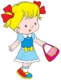 Walking girl Stock Image