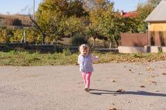 Walking Girl at Countryside Stock Image