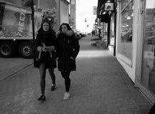 Walking girls Stock Photos