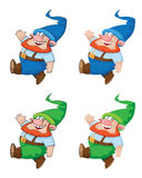 Walking gnome. Illustration of a walking gnome Royalty Free Stock Images