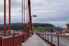 Walking the Golden Gate Bridge royalty free stock images