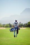 Walking golf course stock photos