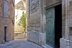 Walking through Gordes Stock Photo