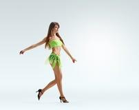 Walking Graceful girl dance Royalty Free Stock Photo