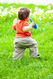 Walking in grass Stock Photography