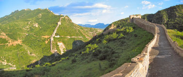 Walking on the Great Wall. Of China - China - Panorama Stock Images