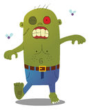 Walking Green Zombie. A walking smelly spooky green zombie Royalty Free Stock Photo