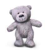 Walking grey teddy fur bear Stock Image