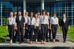 Walking group Royalty Free Stock Image