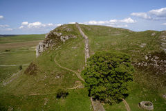 Walking Hadrians Wall Royalty Free Stock Photos