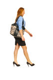 Walking happy executive woman Royalty Free Stock Images
