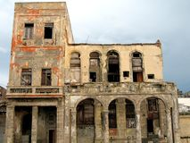Walking in Havana n. 5. Front view of some old buildings in Havana - Cuba Stock Photo