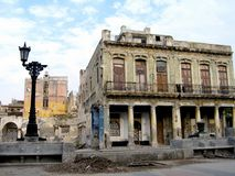 Walking in Havana n. 6. View of some old buildings in Prado road in Havana - Cuba Stock Photos