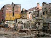 Walking in Havana n. 9. View of some old collapsed buildings in Havana (Cuba Stock Photos