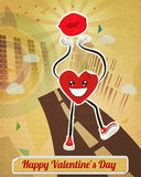 Walking Heart Sticker Stock Image