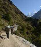 Walking in the Himalayas Stock Photography