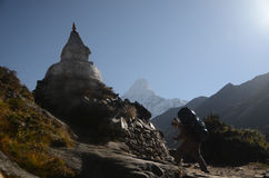 Walking in the Himalayas Royalty Free Stock Photography