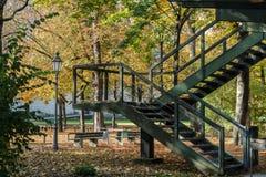 Walking in Hofgarten Park in Munich on a autumn day, Germany. In Europe royalty free stock photos
