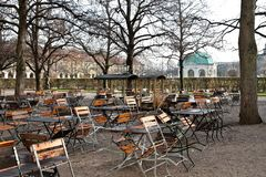 Walking in Hofgarten Park in Munich on a autumn day, Germany. In Europe royalty free stock photo