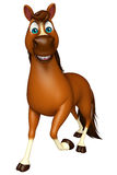 walking Horse cartoon character Stock Photography