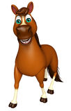 walking Horse cartoon character Royalty Free Stock Photo