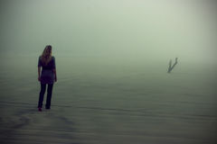 Free Walking In Fog Royalty Free Stock Photos - 13082808