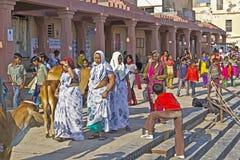 Walking indians Royalty Free Stock Photos