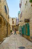 Walking in Jewish Quarter Stock Photography