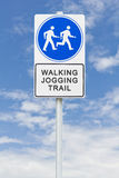 Walking jogging sign Stock Images