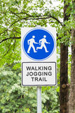 Walking and jogging trail Stock Image