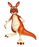 Walking Kangaroo cartoon character Stock Photography