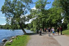 Walking on Kungsholmen Royalty Free Stock Images