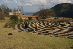 Walking the Labyrinth Royalty Free Stock Photo