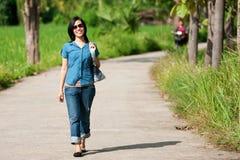 Walking lady Royalty Free Stock Image