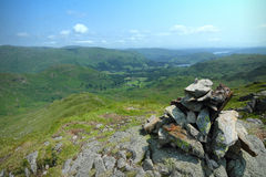 Walking in the Lake District - Cairn Royalty Free Stock Photos