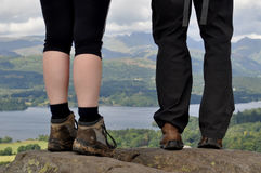 Walking the lakes. Walking among the lakes in the Lake District Royalty Free Stock Images