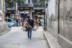 Walking lanes hawkers Royalty Free Stock Image