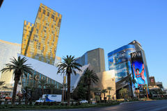 Walking in Las Vegas. City streets. Commercial and private build Stock Photos