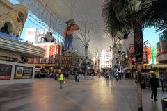 Walking in Las Vegas. City streets. Commercial and private build Stock Photography