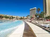 Walking in Las Vegas. City streets. Commercial and private build Royalty Free Stock Images