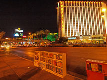 Walking in Las Vegas. City streets. Commercial and private build Royalty Free Stock Image